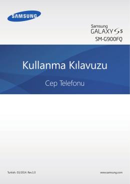 Galaxy S5 Türkçe Kullanma Klavuzu 2014