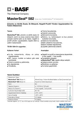 MasterSeal® 582 (Eski Adı THOROSEAL® STANDART