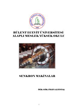 SENKRON MAKİNALAR - Bülent Ecevit Üniversitesi