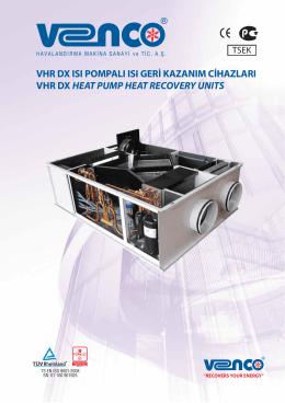 vhr dx ısı pompalı ısı geri kazanım cihazları vhr dx heat pump heat