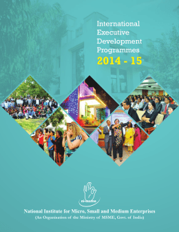 International Executive Development Programmes 2014-15
