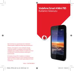 7-) Vodafone Smart 4 Mini 785 Kullanıcı kılavuzu