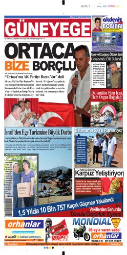 SAYFA 1 Ortaca AK Parti İlçe Başkanı Ya