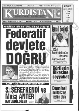 S. ŞEREFKENDİ W Musa ANTER