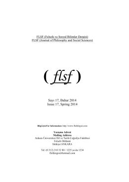 FLSF (Felsefe ve Sosyal Bilimler Dergisi)