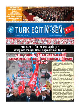 """""""ALIN TERİMİZİ ÇALAN HARAMİLERİN - Türk Eğitim-Sen"""