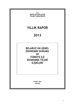 YILLIK RAPOR 2013