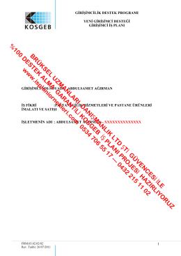 pastanecilik_kosgeb_girisimci_is_plani_ornekleri_is_plani_ornegi