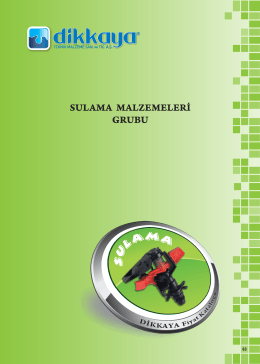 Sulama - Dikkaya Su Kontrol