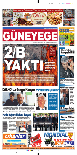 16 Nisan 2014 - Güney Ege Gazetesi