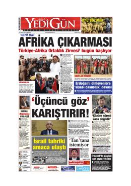 afrika cıkarması - Yedigün Gazetesi
