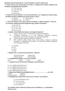 Çalışma Soruları-2