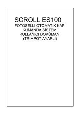 SCROLL ES100 - Scroll Otomatik Kapı Sistemleri