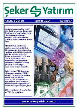 AYLIK BÜLTEN Şubat 2014 Sayı:197 www
