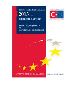 Türkiye tarafından hazırlanan 2013 yılı İlerleme Raporu