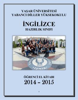 2014-2015 Öğrenci El Kitabı - Yaşar Üniversitesi | Yabancı Diller
