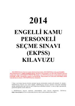 EKPSS-2014 Kılavuzu - Tepebaşı İlçe Milli Eğitim Müdürlüğü