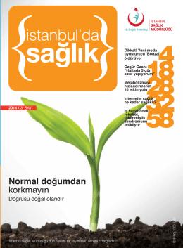 Temmuz-Ağustos Eylül 2014 - İstanbul İl Sağlık Müdürlüğü