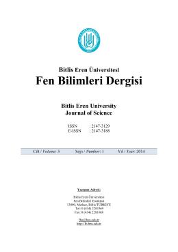 Baş Sayfalar - Bitlis Eren Üniversitesi