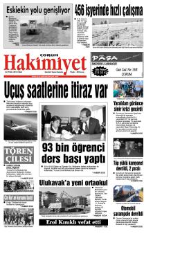 (16 eyl\374l.qxd) - Çorum Hakimiyet Gazetesi