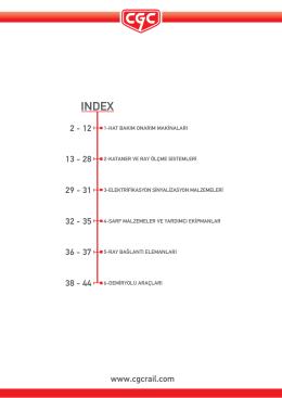 CGC Rail Ürün Kataloğu
