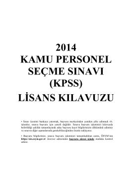 (kpss) lisans kılavuzu