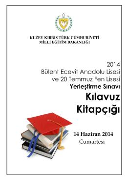2014 Yönlendirme Sınav Klavuzu - KKTC Milli Eğitim, Gençlik ve