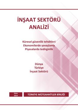 İnşaat Sektörü Analizi - Ekim 2014