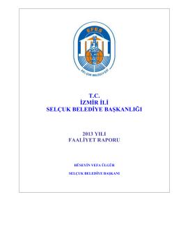 2013 Faaliyet Raporu