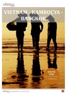 VIETNAM - KAMBOÇYA - BANGKOK