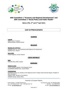 Edirne Liste Participants tous