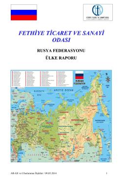 Rusya Federasyonu - Fethiye Ticaret ve Sanayi Odası