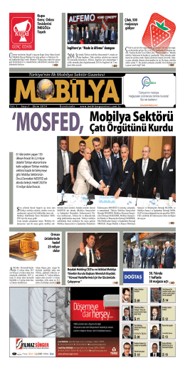 Mobilya Sektörü - Mobilya Gazetesi