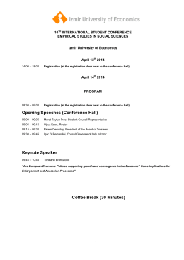 10th student conference programme