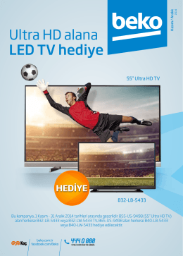 Ultra HD alana LED TV hediye