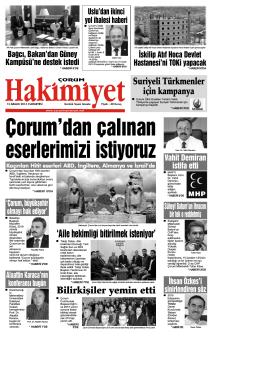 (13 aral\375k.qxd) - Çorum Hakimiyet Gazetesi