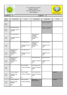 2013-2014 Bahar Yarıyılı Ders Programı PDF