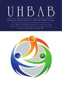 Uluslararası Hakemli Beşeri ve Akademik Bilimler Dergisi