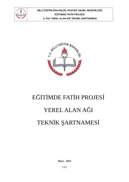 Teknik Şartname - Sinop İl Milli Eğitim Müdürlüğü