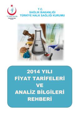 Türkiye Halk Sağlığı Kurumu 2014 Fiyat Listesi
