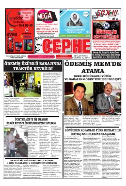 01.07.2014 Tarihli Cephe Gazetesi