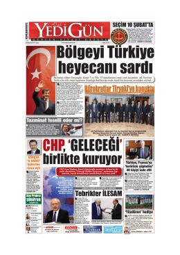 Bölgeyi Türkiye heyecanı sardı