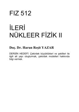 Doç. Dr. Harun Reşit YAZAR