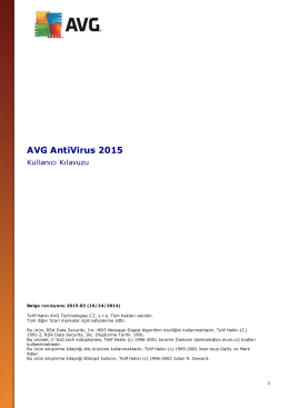 AVG AntiVirus 2015 User Manual