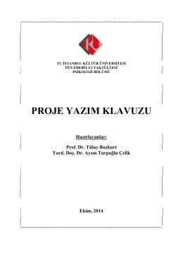 Bitirme Projesi Yazım Klavuzu - İstanbul Kültür Üniversitesi