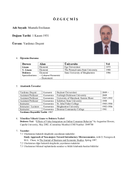 Yrd. Doç. Dr. Mustafa ERCİLASUN