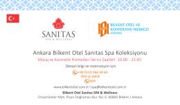 Spa Masajları - Bilkent Otel ve Konferans Merkezi / ANKARA