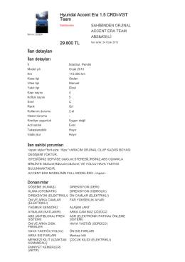 Hyundai Accent Era 1.5 CRDi-VGT Team 29.800 TL İlan detayları