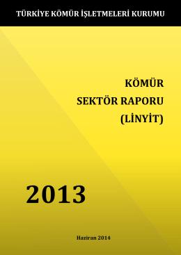 kömür sektör raporu (linyit) - Enerji ve Tabii Kaynaklar Bakanlığı