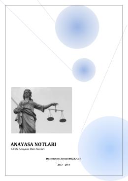 anayasa notları